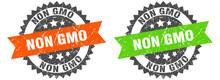 Non Gmo Band Sign. Non Gmo Grunge Stamp Set