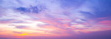 World Environment Day Concept: Sky And Clouds Autumn Sunset Background
