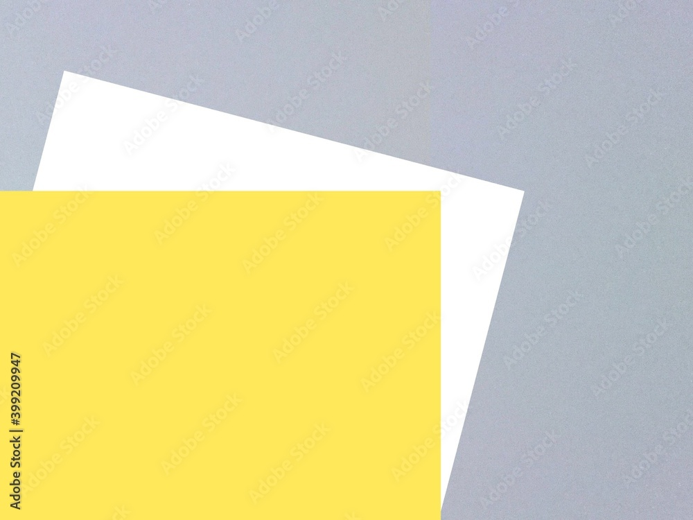 Fototapeta Abstract geometric ultimate grey and yellow  trendy 2021 Pantone colours palette decorative background texture web template banner poster corporate identity design  creativity concept