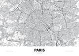City map Paris France, travel poster detailed urban street plan, vector illustration