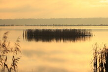 Sunset Scene On The Lake