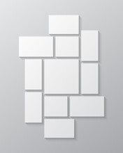 Vector Template Collage Eleven Frames Images Photo
