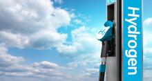 Hydrogen Filling Station On A Background Of Blue Sky