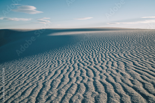 Large desert of white sand