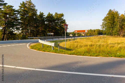 Canvas View of a road junction in a rural area