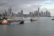Downtown of Panama City from Fisher Port - Panama. Central America.