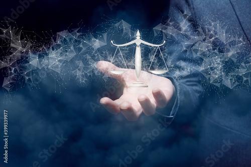 Stampa su Tela Concept of justice.