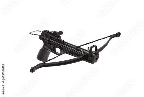 Foto Modern crossbow isolate on a white back
