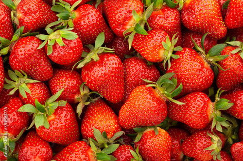 Fotografie, Obraz strawberry closeup texture tile pattern