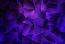Dark Purple Vector Abstract Polygonal Pattern.