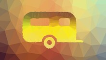 Camper Trailer Fade Strange Tessellated Looping Animated Polygons