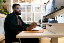 Architect At Startup Business Working At Computer
