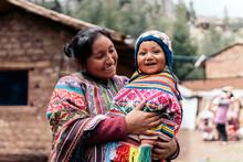 Peruvian Mom With Her Child