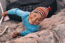Portrait Of Peruvian Boy