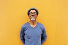 Senior Black Man Standing.