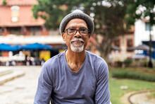 Senior Black Man Smiling.