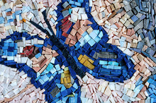 Surface Of Colorful Butterfly Mosaic