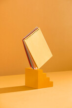 Diary Book A Yellow Background
