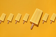 Homemade Ice Cream Or Popsicles From Pineapple