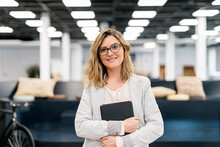 Portrait Of Business Woman Looking At Camera