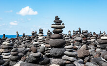 Large Number Of Small Cairns