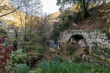 Ancient Bridge Of The Bull Along The Black River Of Terni