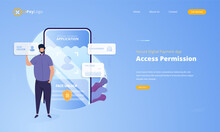 Access Permission To Secure Digital Payment Application Concept