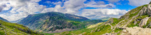Panorama Of Snowdon National Park In North Wales. UK