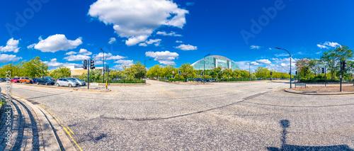 Avebury boulevard panorama in Milton Keynes, Buckinghamshire Fototapet