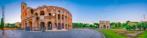 Panorama of Colosseum in Rome. Italy