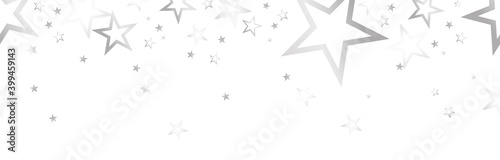 Foto christmas banner with colored stars