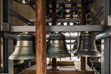 Bells Tower. Old Church Bronze Bell.