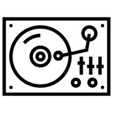 Electronic Audio Turntable Vector Design