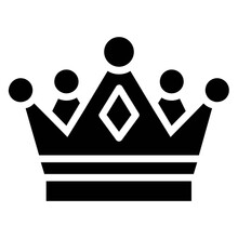 Solid Royal Crown Vector Design