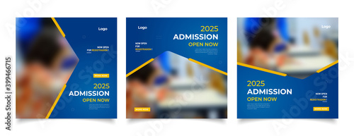 Fototapeta School education admission social media post and web banner template obraz