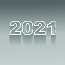 2021 Pearl Text Design In Silver