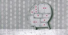 Conceptual Artwork, Surreal Portrait Art, Choice Brain Think  Concept Painting ,imagination Of Human Head Drawer ,3d Illustration