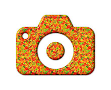 Camera Jellybeans Yummy Sweets Colorful Illustration, Jelly Icon Logo Symbol