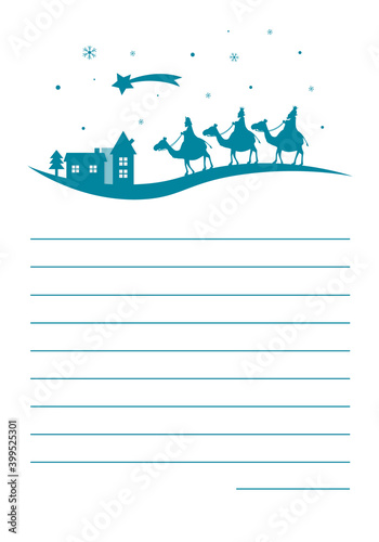 Papel de parede Letter to the three wise men.  Space for text