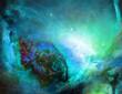 Galactic Space. Vivid universe. 3D rendering