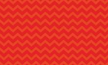 Seamless Orange Zig Zag Wavy Chevron Pattern On A Red Background Vector