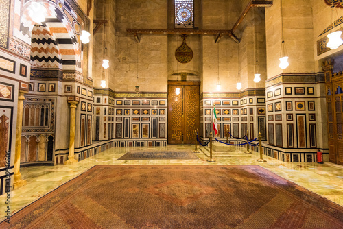 Tomb of Mohammad Reza Pahlavi the last Shah of Iran inside of the Mosque of Al R Wallpaper Mural