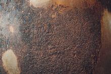 Burned Old Frying Pan Texture Rust Macro.