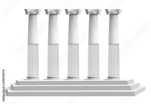 Vászonkép Realistic temple columns