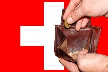 Empty Wallet Shows The Global Financial Economic Crisis Triggered By The Corona Virus In Switzerland
