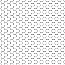 Hexagon Bee Hive Black And White Pattern Seamless Background Vector.