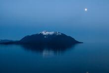 Snow Covered Island In Alaska, USA