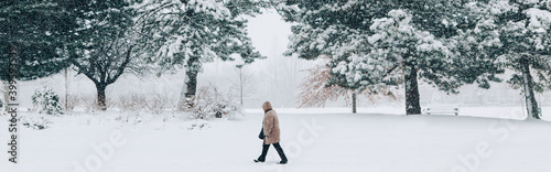 Winter outdoor scene Fototapete