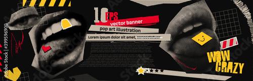 Fotografie, Obraz Discounts vector collage grunge banner