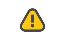 Alert Icon. Exclamation Danger Sign. Rounded Triangle With Exclamation Mark.